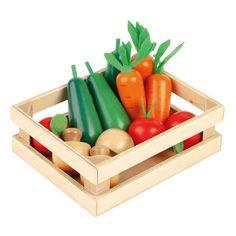 Five-A-Day Wooden Veg Box