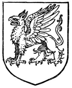 Fig. 420.—Gryphon Statant. Date 	1909 Source 	A Complete Guide to Heraldry. Author 	 [show]Arthur Charles Fox-Davies oktouse