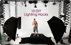 10 DIY Flash and Lighting Hacks that put some of the professional lighting techniques within the grasp of the rest of us.