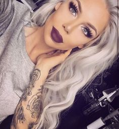 7 Absolutely Essential Tips on How to Wear Dark Lipstick for Beginners - Her Sty. - 7 Absolutely Essential Tips on How to Wear Dark Lipstick for Beginners – Her Style Code- - Beauty Makeup, Hair Makeup, Hair Beauty, Makeup Geek, Eyeshadow Makeup, Eyeshadow Palette, Gray Eyeshadow, Makeup Palette, Makeup Brushes