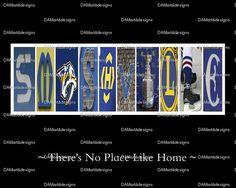 NHL Nashville Predators Framed Alphabet Photo by DAMartndesigns, $35.00