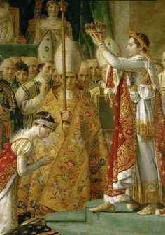 Consecration of the Emperor Napoleon I - by Jacques-Louis David. Jacques Louis David became well known for his paintings of Napoleon Napoleon Josephine, Empress Josephine, French History, Art History, Jacque Louis David, French Royalty, Napoleonic Wars, Kaiser, French Art
