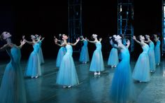The New York City Ballet performs Balanchine's SERENADE at the ...