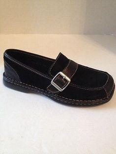 Born Concept BOC Shoes Womens Size 8.5 Black Suede Loafers EU 40 Slip On 8 1/2 M