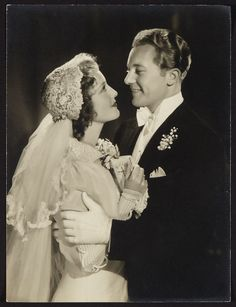 Jeanette MacDonald and Gene Raymond by Clarence Sinclair Bull (Wedding Photo, 16 June 1937)