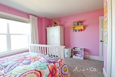Arabella's Colorful Little Girl Room - Arie + Co. Girl Bedroom Walls, Pink Girl Room, Elegant Bedroom, Bedroom Decor For Couples, Classic Furniture Living Room, Beautiful Bedroom Inspiration, Feminine Bedroom, Pink Bedroom For Girls, Dream Rooms