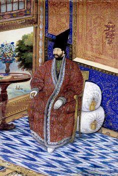 Portrait of Prince Ardashir Mirza by Abu'l Hasan Ghaffari / Sani' al-Mulk d. Mughal Paintings, Small Paintings, Arabian Knights, Ancient Persia, Iranian Art, Magic Carpet, Orient, 16th Century, Art Boards
