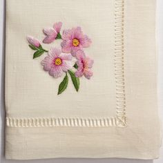 Cherry Blossom<br>Napkin - Ivory Linen