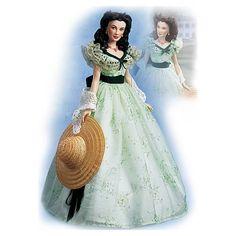Franklin Mint Gone With the Wind Scarlett Twelve Oaks Vinyl Doll