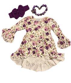 PURPLE FLORAL VINTAGE DRESS