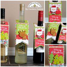 Doodlebug Design Inc Blog: Wine Bottle Tags featuring Santa Express Collection