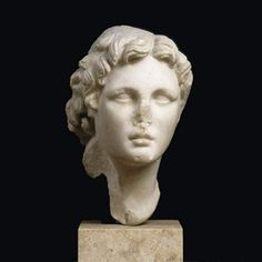 The 'Guimet Alexander', a marble portrait of Alexander the Great from Lower Egypt, century BCE. Acquired in Cairo by E Guimet Musée du Louvre, Paris. In Praise Of Shadows, Alexandre Le Grand, 7 Arts, Collections Photography, Grand Paris, Plastic Art, Small Sculptures, Alexander The Great, Ancient Civilizations