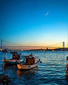 The sunset in İstanbul