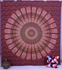 Indian Mandala Tapestry Wall Hanging Bohemian Hippie Gypsy Bedspread Coverlel #Handmade #BedspreadBedsheetWallHanging