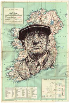 Mark Powell Map Art | The Coolector