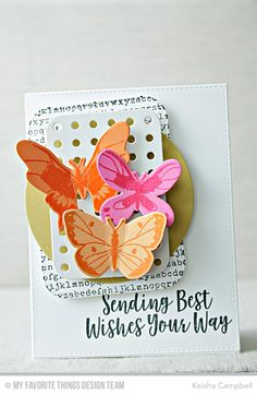 Beautiful Butterflies Card Kit, Stitched Rounded Rectangle STAX Die-namics, Stitched Circle Frames Die-namics, Typewriter Text Background, Blueprints 22 Die-namics - Keisha Campbell  #mftstamps
