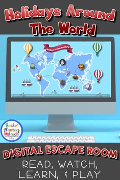 Holidays Around the World is a fun and engaging way to introduce students to different winter holidays celebrated around the world. Each of the holidays represented has an informational paragraph about the holiday, a video, and a game to play to find the clue for the escape room. The holidays represented are: Christmas in America, Las Posadas (Mexico), Kwanzaa (African inspired), Christmas in Australia, Chinese New Year, Diwali, Hanukkah, and St. Lucia Day Your kids will LOVE it!