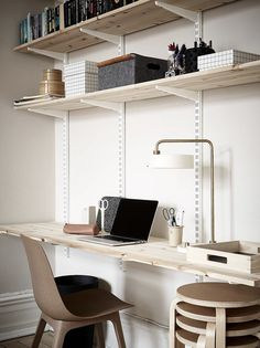 Home Office Decor Home Office Space, Office Workspace, Home Office Desks, Office Decor, Office Ideas, Built In Cabinets, Office Interiors, Interior Inspiration, Home Remodeling