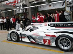 Pitstop Practice at the Audi Garage during Friday 'Downtime'.