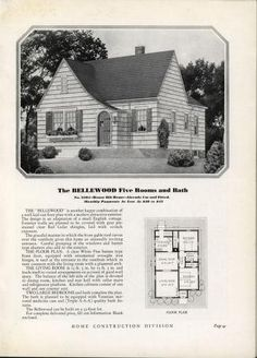 Homes of Today~Sears Kit Arched Front Door, Cedar Shingles, Cottage Exterior, The Gables, First Story, Red Cedar, Field Guide, Kit Homes, Inspired Homes
