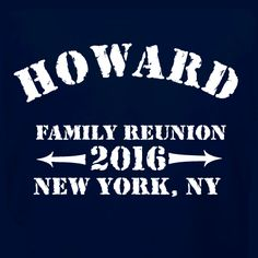 Customizable family reunion t-shirt template. Easily edit this template to include your family name and the dates and location of your next family reunion. We offer a wide variety of great apparel products and t-shirts are fantastic souvenirs! Choose sizes for the whole family from infant onesies to plus size.