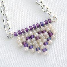 Create designs with seed beads and wire to make a one-of-a-kind necklace.
