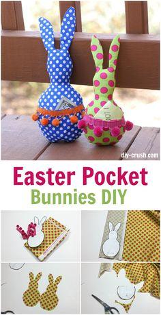 Easter Pocket Bunny DIY tutorial