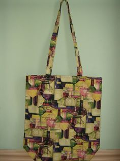 Reusable Market Grocery Shopping Bag Wine Bottle by greenlioness, $18.00