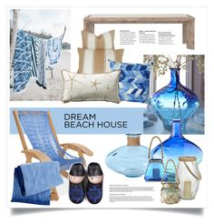 """""""My Dream Beach House"""" by gangdise ❤ liked on Polyvore featuring interior, interiors, interior design, home, home decor, interior decorating, Pier 1 Imports, The Beach People, Orient Express Furniture and Amy Sia"""