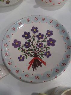 Precioso plato pintado en elTaller www.varabara.com