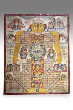 Jain painting of Cosmic Man, known as Lokapurusha