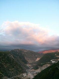 Lebanon / far mountains via Himlaya village