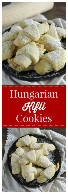 Hungarian Kifli Cookies Hungarian Kifli Cookies – Rich and flaky traditional Hungarian crescent cookies filled with a light walnut filling. Hungarian Cookies, Hungarian Desserts, Hungarian Recipes, Hungarian Food, Ukrainian Food, Croatian Recipes, Chocolate Cookie Recipes, Easy Cookie Recipes, Baking Recipes