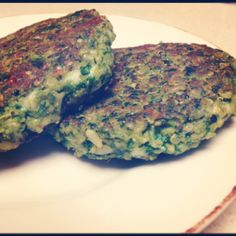 Spinach pesto quinoa patties