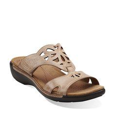 Un.Jasper in Beige Leather - Womens Sandals from Clarks