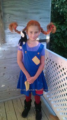 Coolest Pipi Longstocking Costume Ever Halloween Costume Contest, Halloween Costumes For Kids, Halloween Party, Halloween 2017, Book Character Day, Character Dress Up, Storybook Character Costumes, Storybook Characters, Book Day Costumes