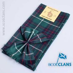 Pure wool mini sash in MacIntyre Hunting modern Tartan - available from ScotClans