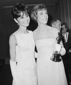 Eliza Doolittle (Audrey Hepburn) and Oscar winner Mary Poppins (Julie Andrews) in 1965.