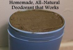 Store bought deodorant contains some seriously harmful ingredients, such as aluminum and parabens.  Here is a recipe for all-natural homemade deodorant with just four simple ingredients!