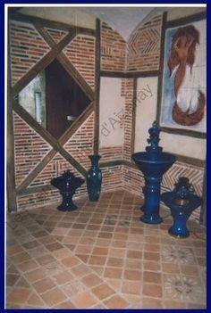En vend e fabrication artisanale de carreaux en terre cuite avec cuisson au feu de bois - Bernard philibert salon de provence ...
