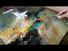 Abstract painting / Blending with palette knife and brush in Acrylics / Demonstration - YouTube