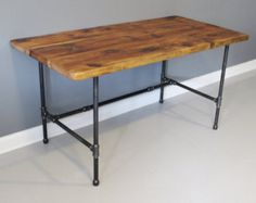 Made to Order - Reclaimed Urban Wood Desk - Industrial Pipe Legs - Free Shipping - Reclaimed Salvaged Barn Wood