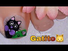 Manicure And Pedicure, Toe Nails, Tattoos, Cat Nail Art, Nail Designs, Designed Nails, Animals, Drawings, Toe Nail Art