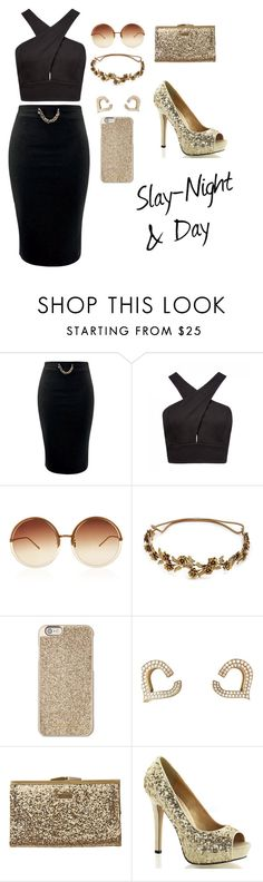 """""""Untitled #11"""" by faith12485 on Polyvore featuring Forever New, Linda Farrow, Jennifer Behr, Michael Kors, Chopard and Element"""