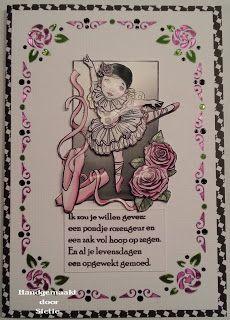 Hobbyjournaal: Pierrotje met roosjes.