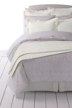 Cotton-Silk Channel Stitched Quilt and Sham from Lands' End