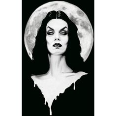 Vampire Dark Goddess Of Horror by Shayne of the Dead Canvas Art Print ($65) ❤ liked on Polyvore featuring home, home decor, wall art, canvas wall art and canvas home decor