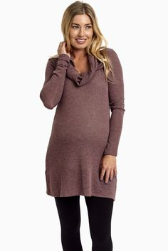 Mauve-Cowl-Neck-Knit-Maternity-Sweater-Top