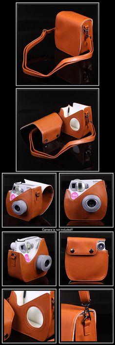 Leather Case Bag for Fujifilm Instax Mini 7S - Caramel