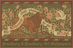 Bradbury Craftsman Style Floral Posters | Lion and Dove